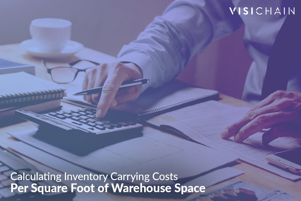 calculating inventory costs per square foot of warehouse space